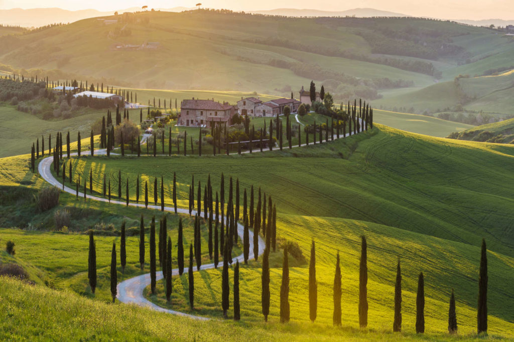 Toskana Val d'Orcia Lerne Italienisch Online