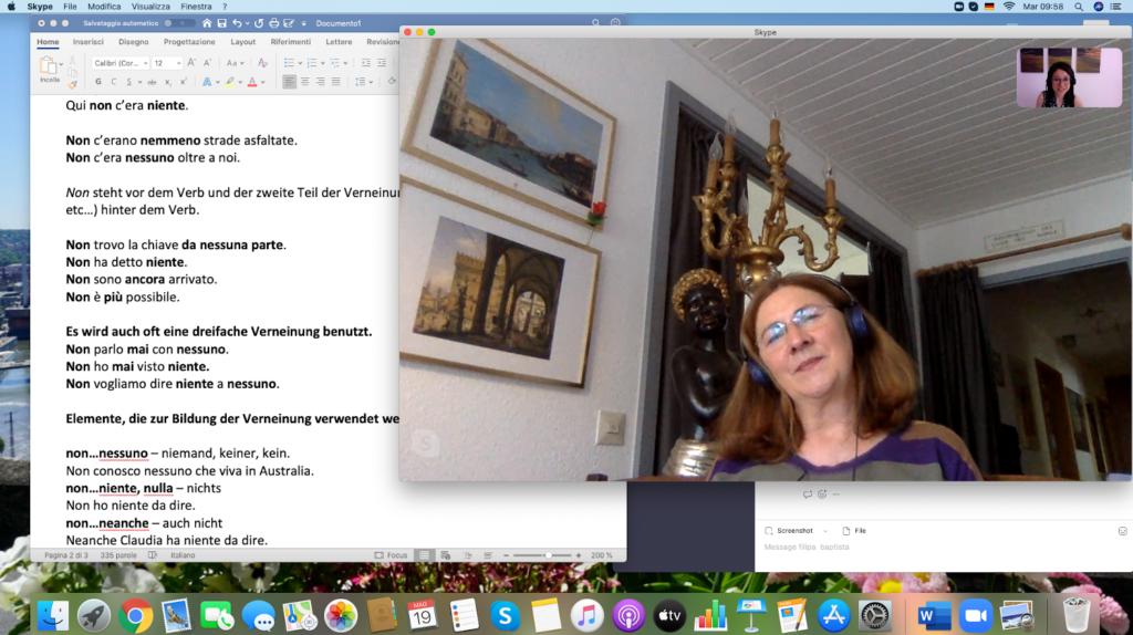 Italienisch Privatunterricht über Skype